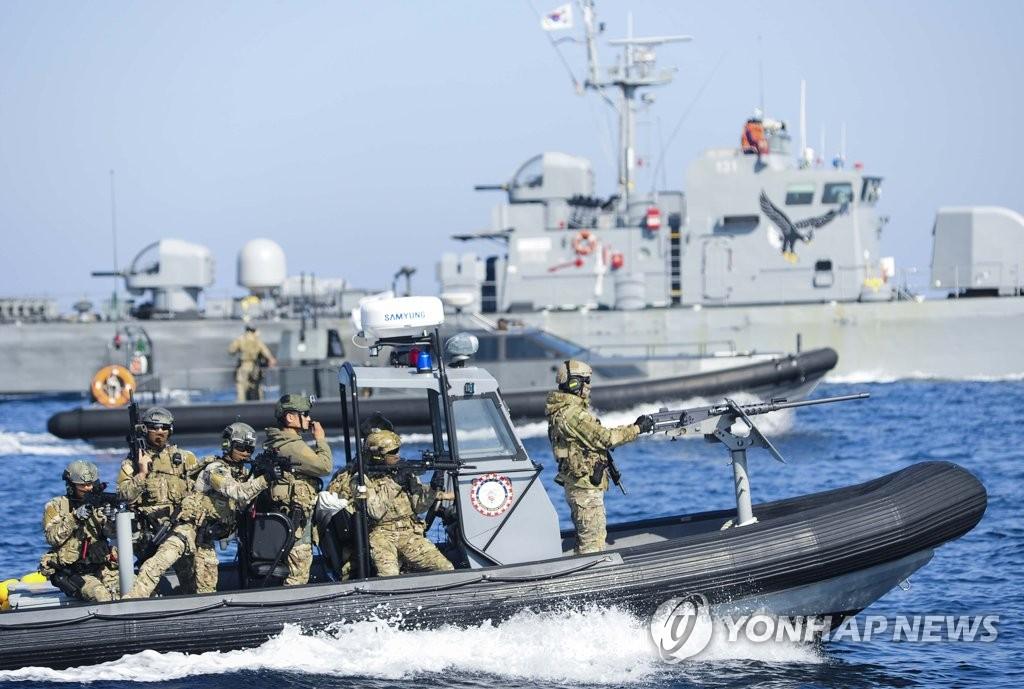 海军演练防御朝军进犯海界