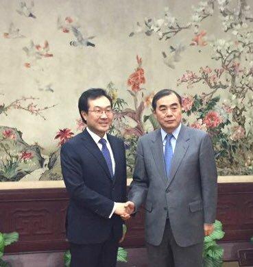 朝核六方会谈韩中团长会晤
