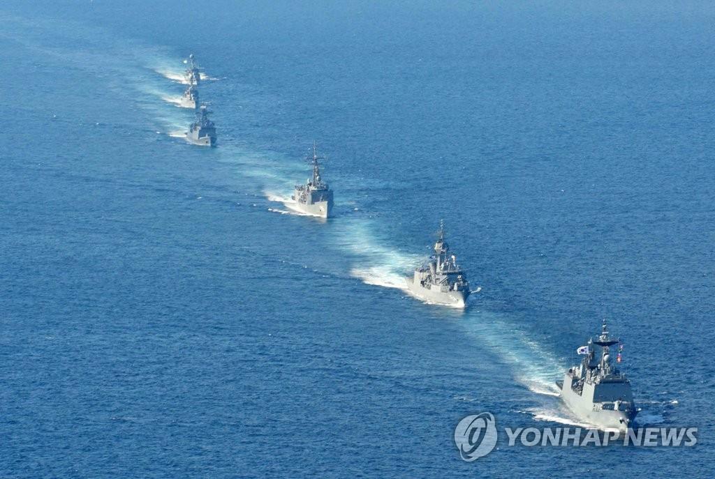 韩澳海上联合军演