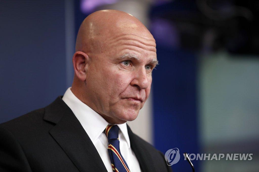 资料图片:美国总统国家安全事务助理麦克马斯特(韩联社/美联社)