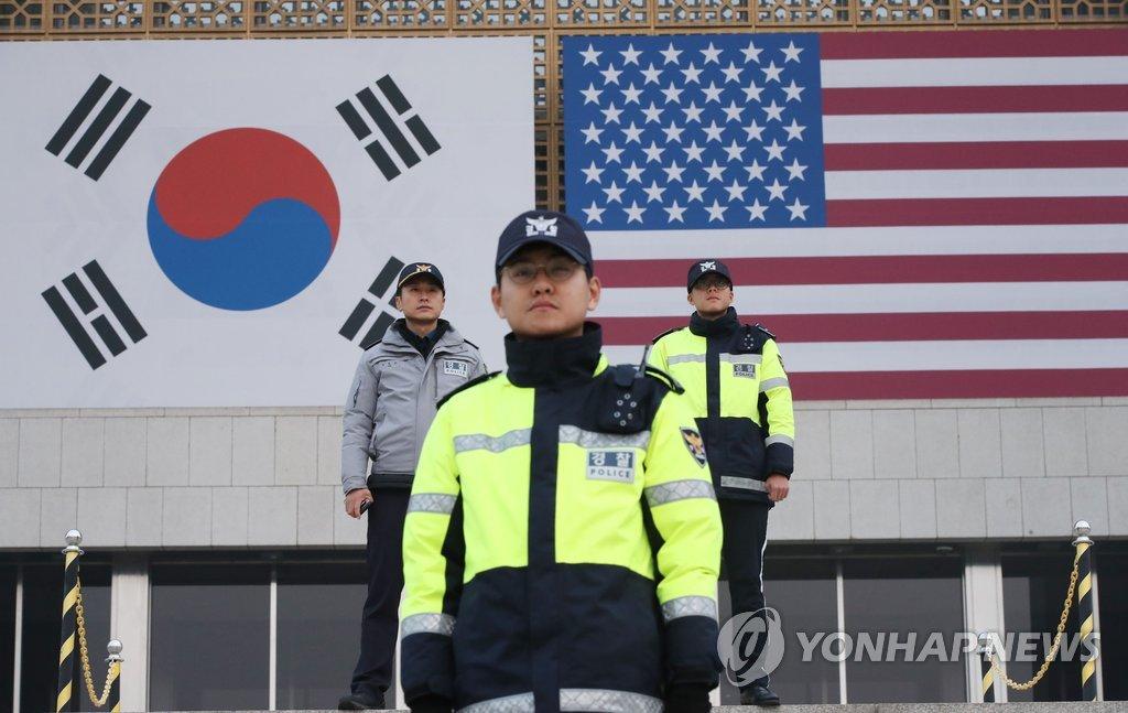 特朗普今访问韩国会 警备森严