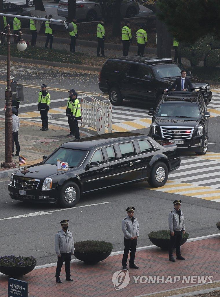 特朗普访问韩国国会