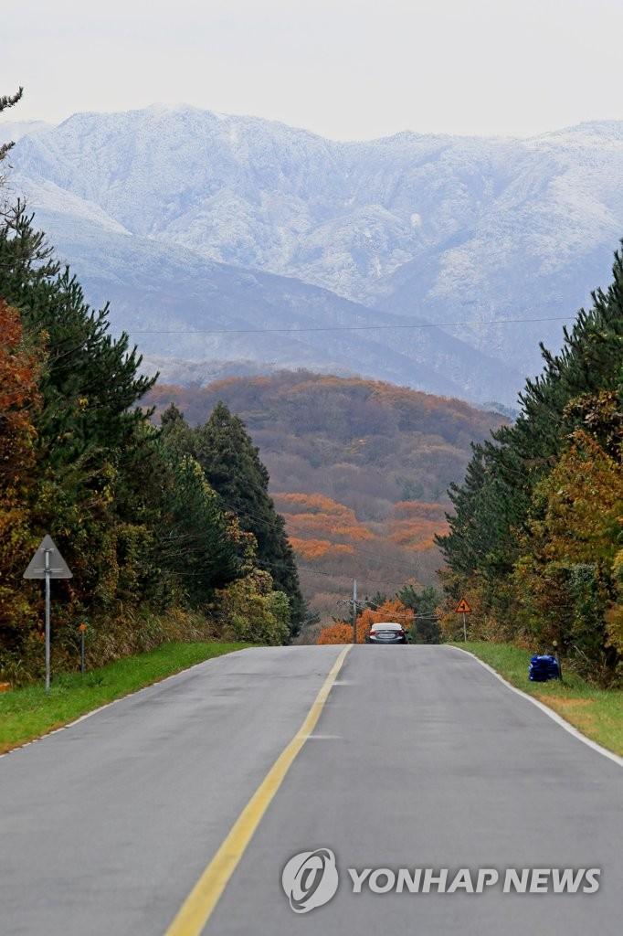 秋冬风景共存