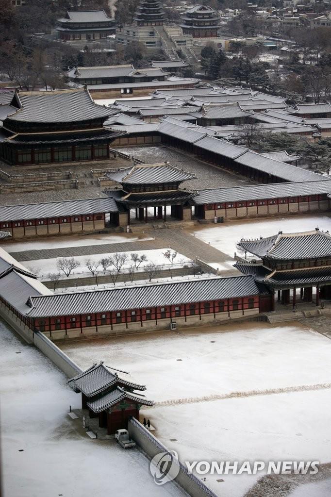 雪后景福宫美如画
