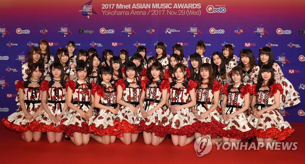 AKB48亮相MAMA颁奖礼