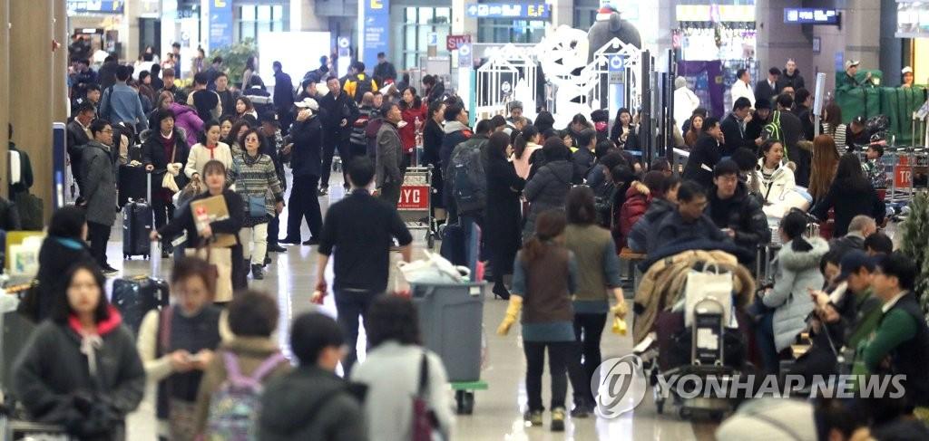 仁川机场出入境人数预计创新高
