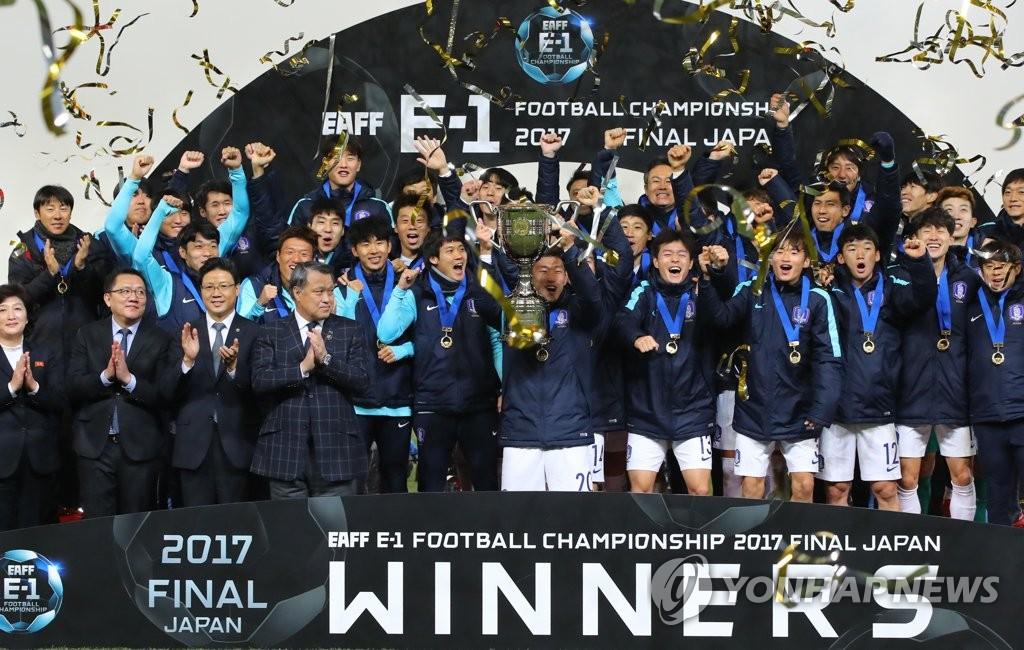 韩国夺E-1足球锦冠军