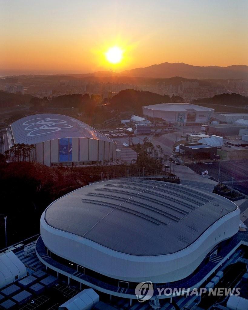 太阳映照江陵奥林匹克公园