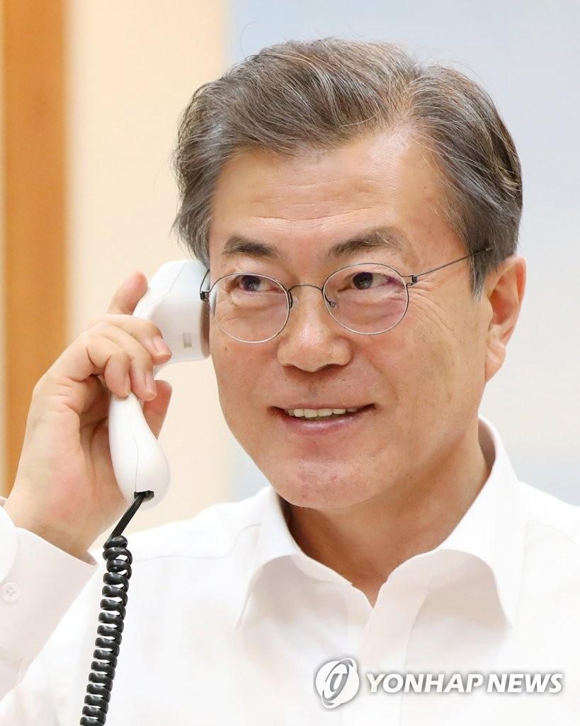 韩美总统通电话