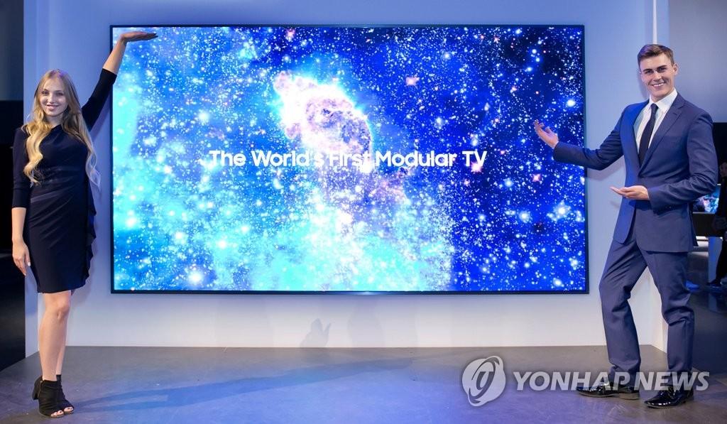 삼성전자, 세계 최초 모듈러 TV '더 월'공개