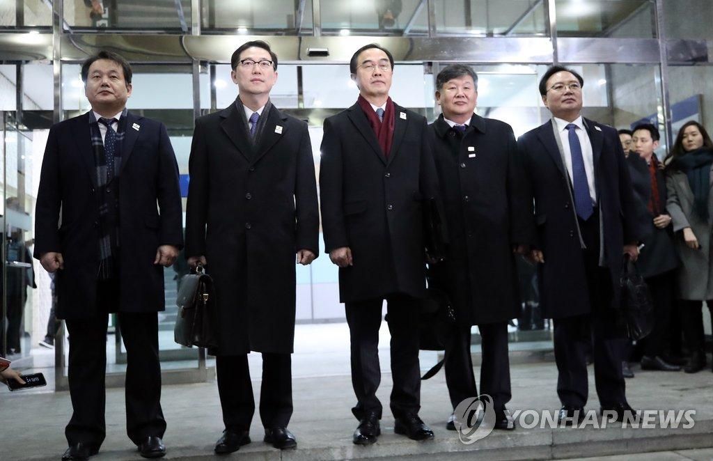 韩朝高级别会谈韩方代表团