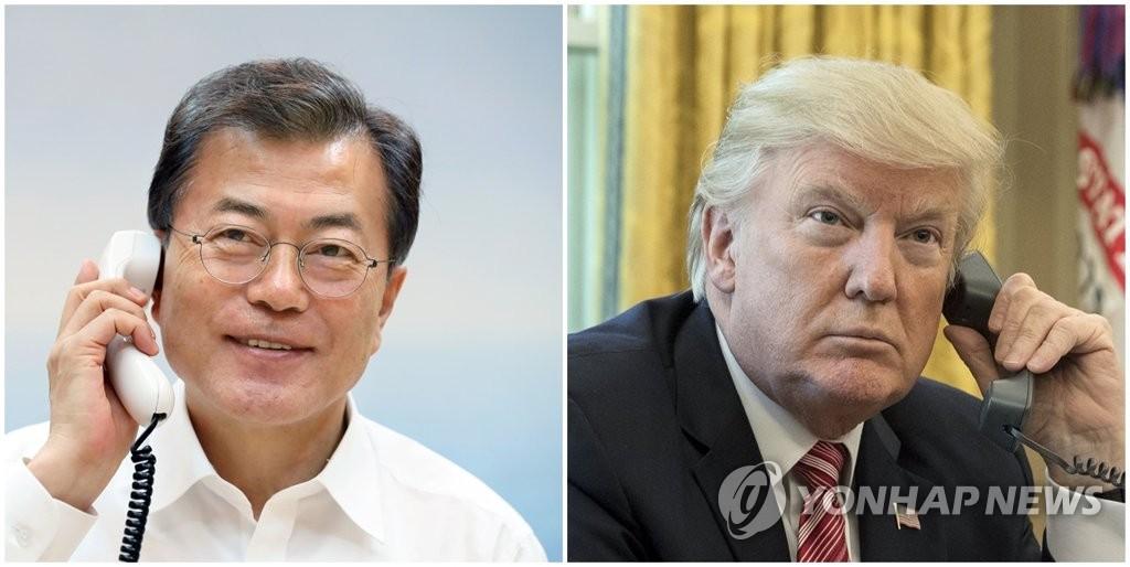 韩美领导人通电话
