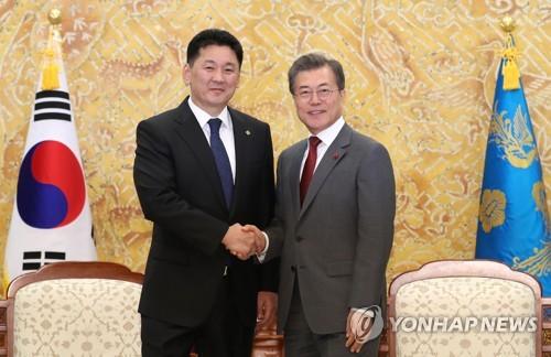 韩蒙领导人将举行视频会谈