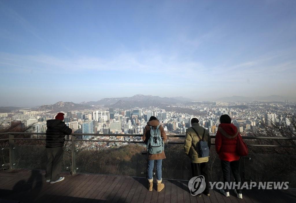首尔重现蓝天