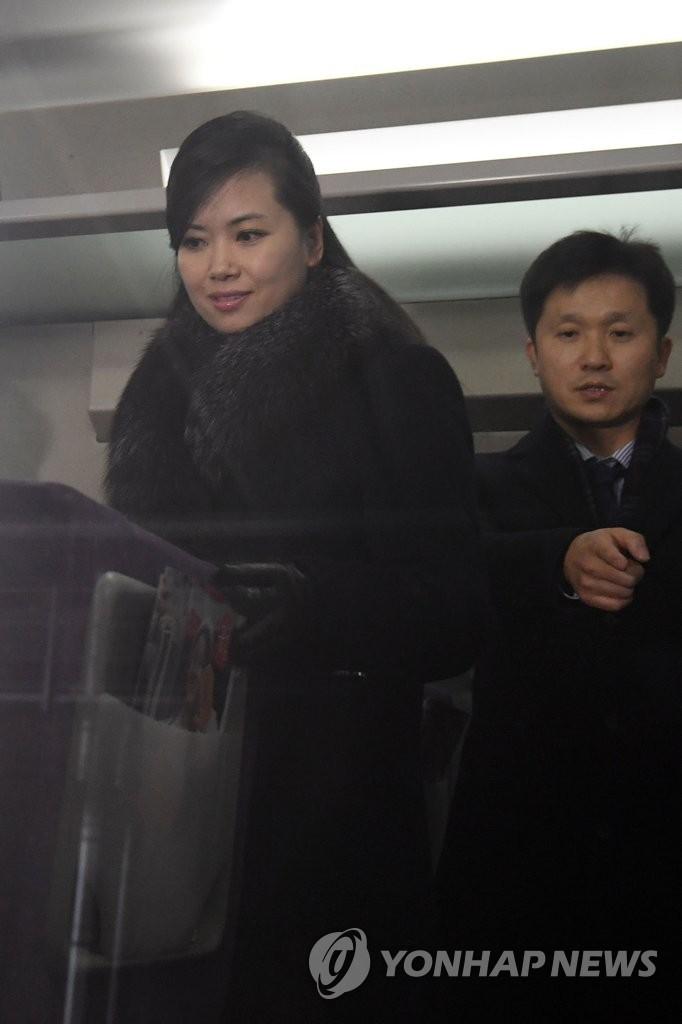 玄松月乘高铁返回首尔