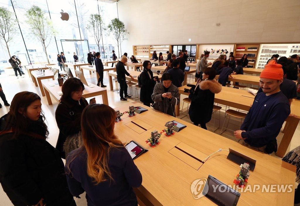 首家苹果零售店登陆韩国
