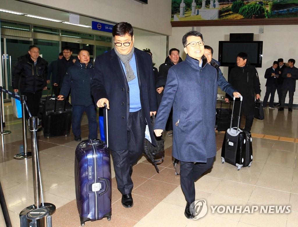 韩方先遣队回国