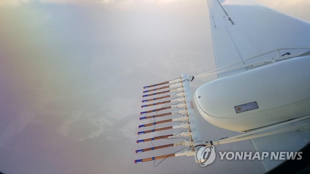 韩气象飞机首次进行观测