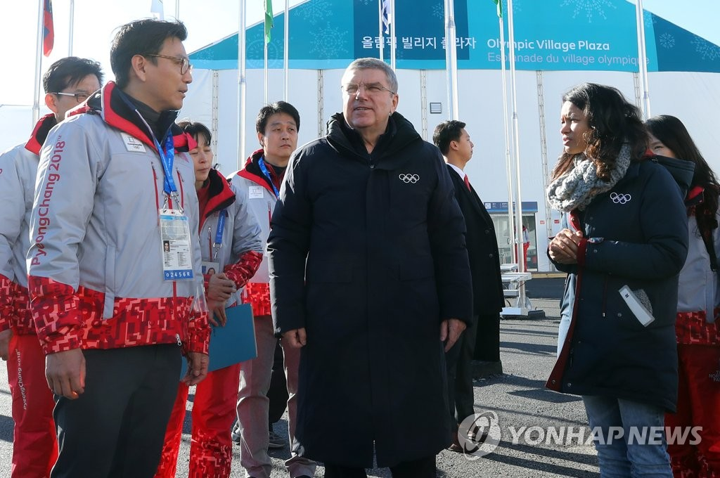 国际奥委会主席巴赫视察冬奥村