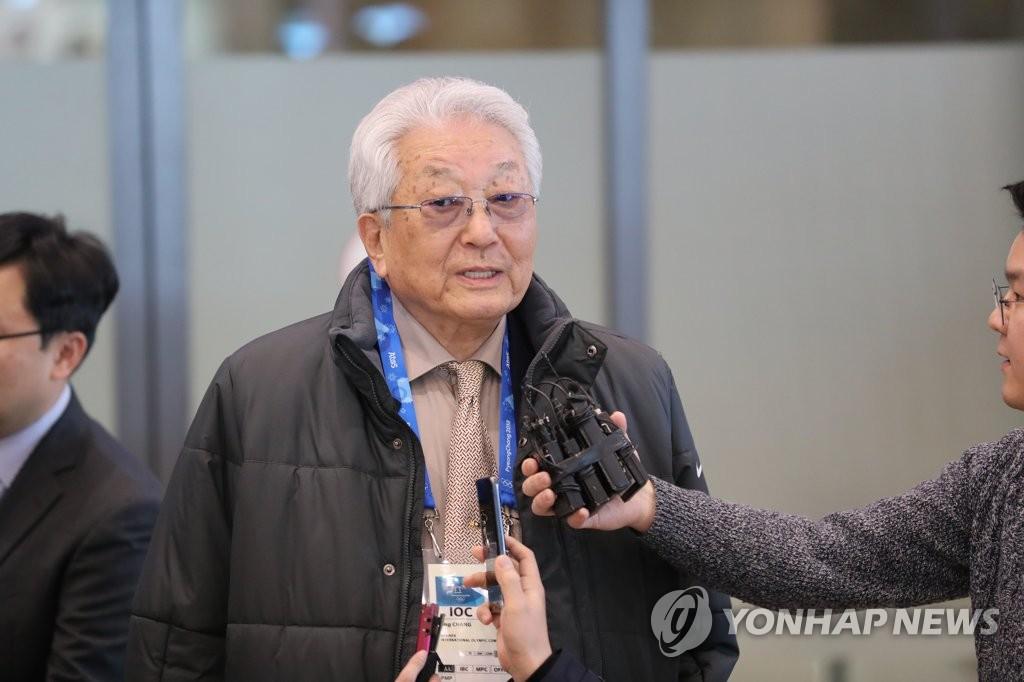 朝鲜籍国际奥委会委员张雄访韩