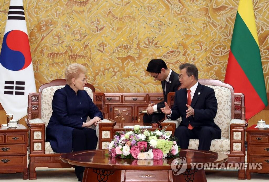 文在寅会晤立陶宛总统