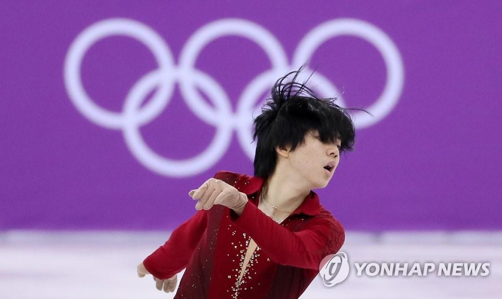 2月9日,在江原道江陵冰上运动场,车俊焕在比赛中。(韩联社)