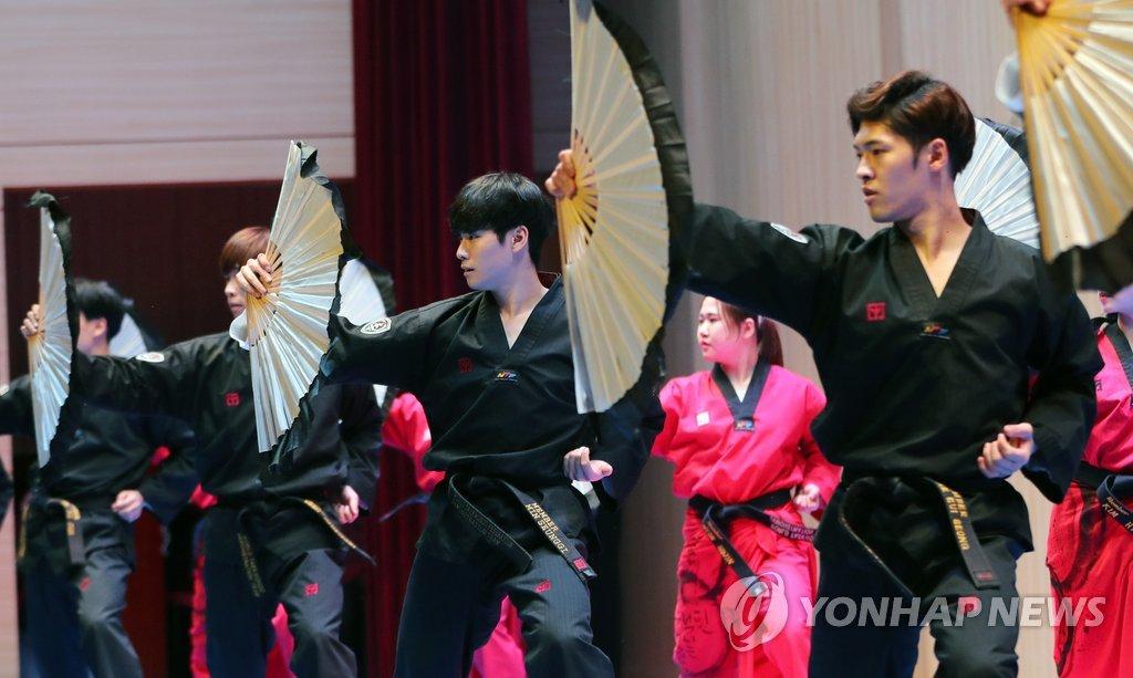 韩国跆拳道示范团表演