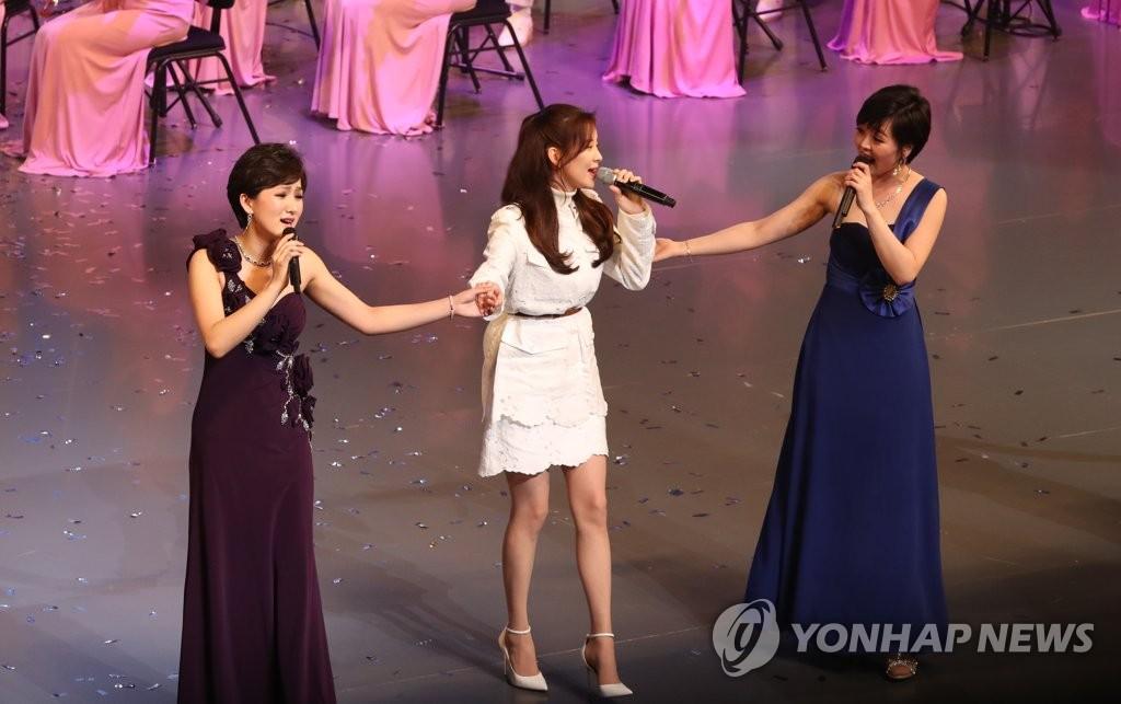 韩朝歌手同台表演