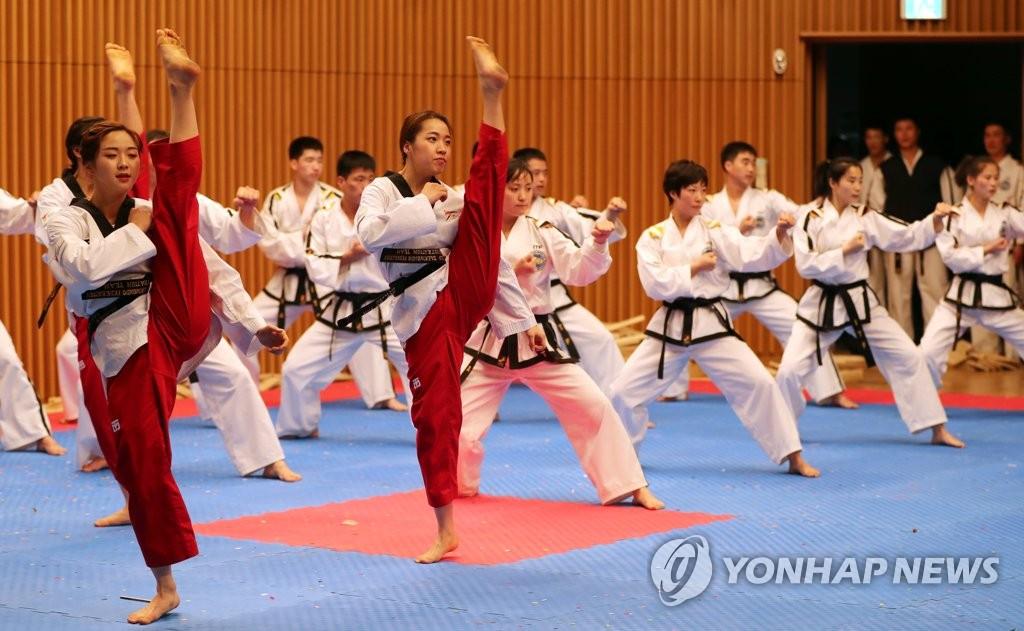 韩朝跆拳道示范团精彩表演