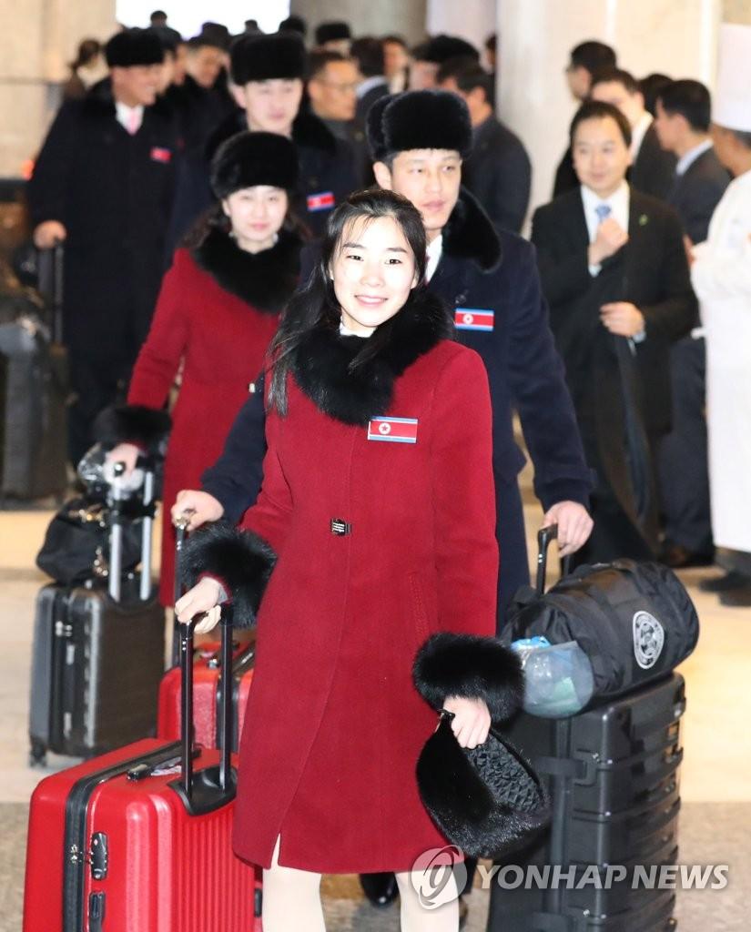 朝鲜跆拳道示范团返朝