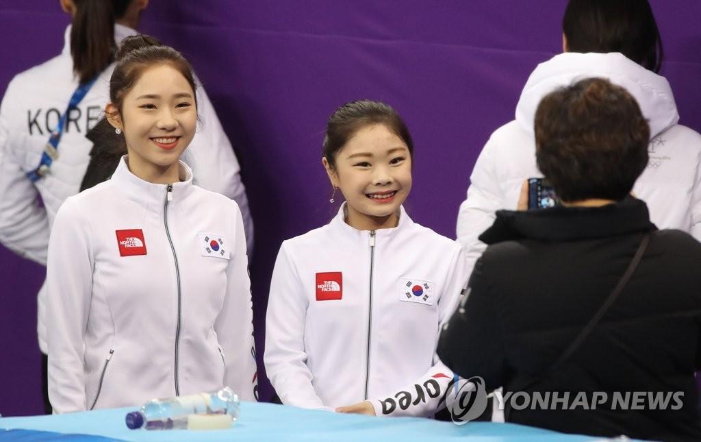 韩国花滑新苗甜美笑容
