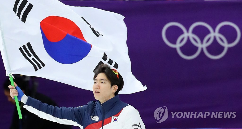 冬奥速滑男子500米车旼奎夺银