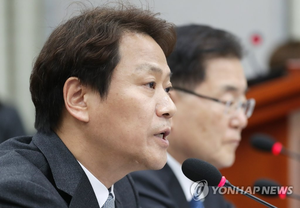 资料图片:韩国总统幕僚长任钟皙(韩联社)