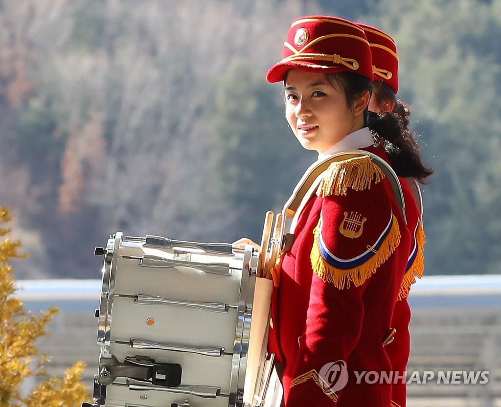 回到宿舍的朝鲜拉拉队员