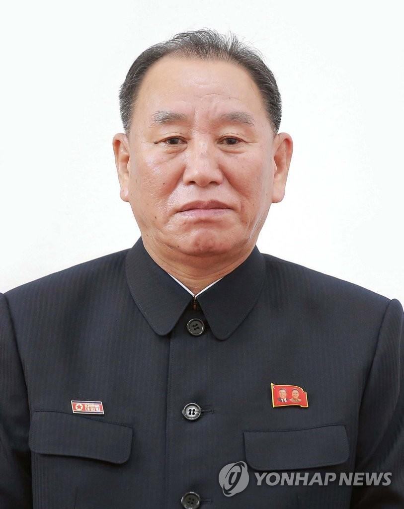 资料图片:朝鲜劳动党中央委副委员长金英哲。图片仅限韩国国内使用,严禁转载复制。(韩联社/朝中社)