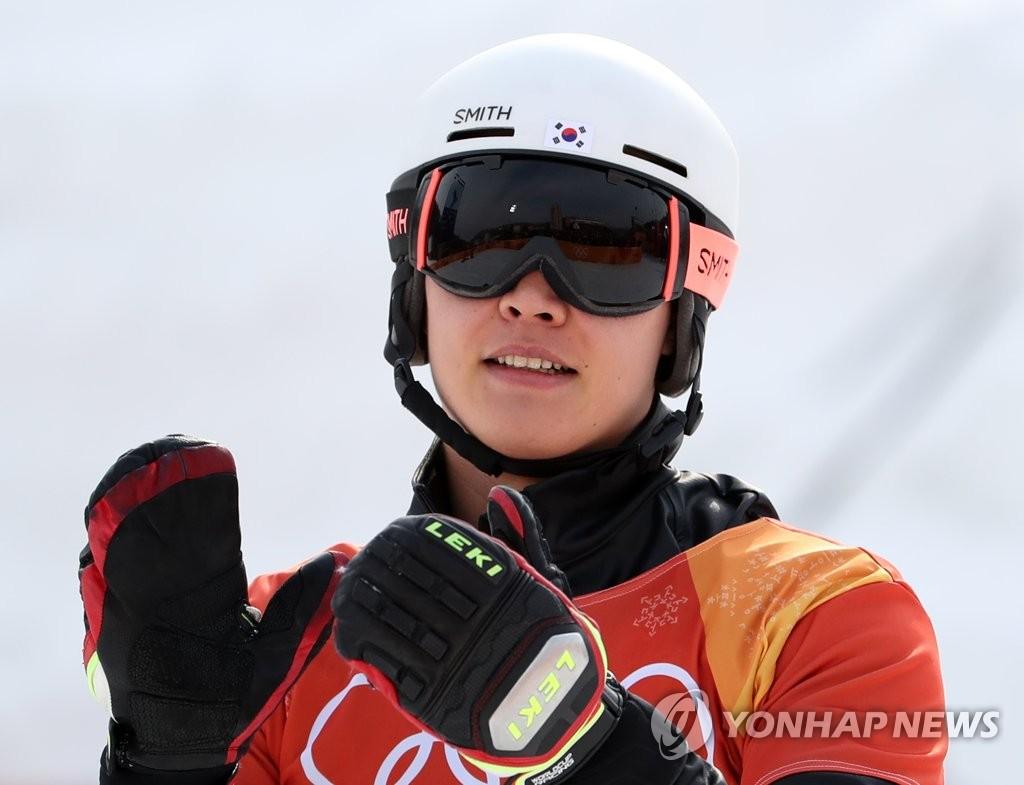 韩国单板滑雪选手李相昊摘银