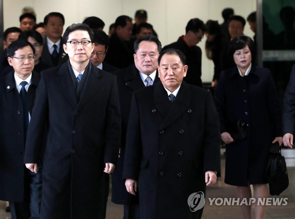金英哲率团抵韩
