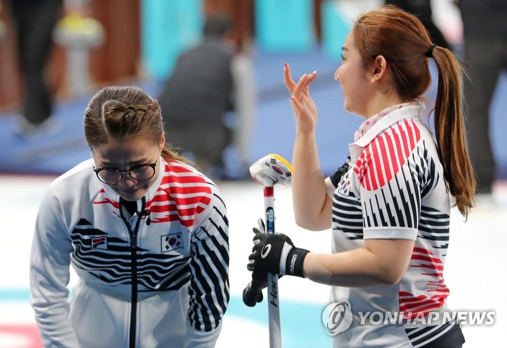 韩国女壶姐妹泪洒奥运赛场