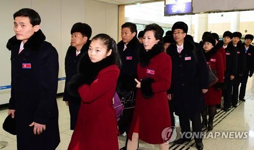 朝鲜体育代表团返朝