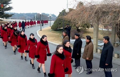 朝媒报道冬奥军团返朝