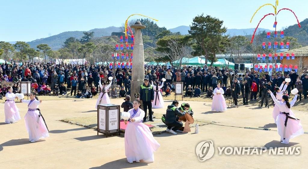 3月2日,平昌冬残奥会圣火采集仪式在全罗北道高敞举行。(韩联社/高敞郡政府提供)