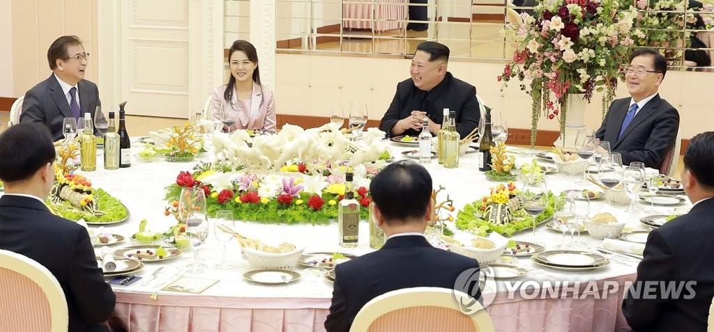 韩特使团与金正恩共进晚餐