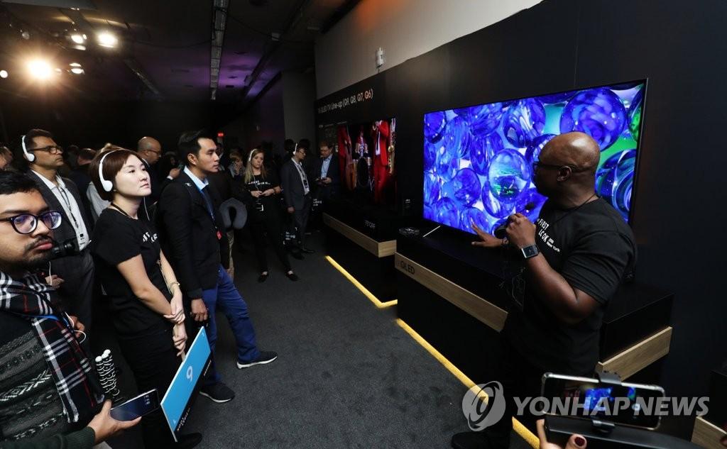삼성, QLED TV 뉴욕서 공개…초대형 라인업 강화