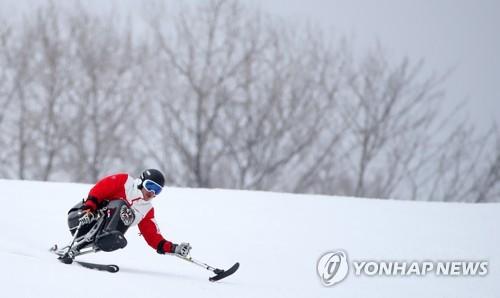 残疾健儿驰骋雪原