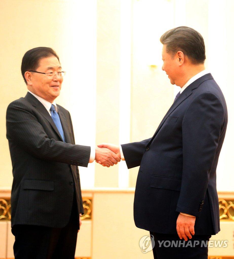 郑义溶会晤中国国家主席习近平