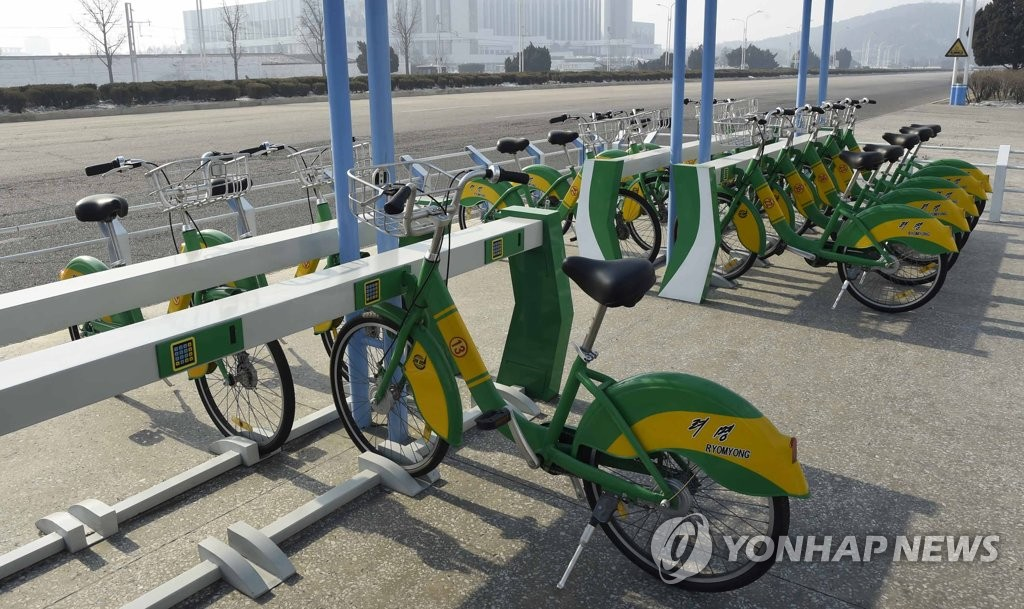 """共享单车""""黎明""""亮相平壤"""