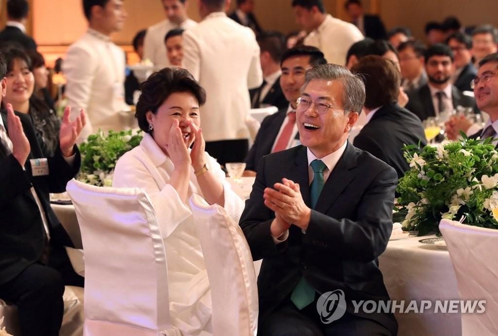 文在寅出席旅阿联酋韩侨座谈会