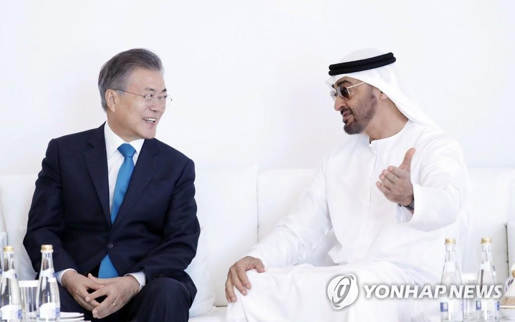 阿布扎比王储穆罕默德下周访韩会见文在寅