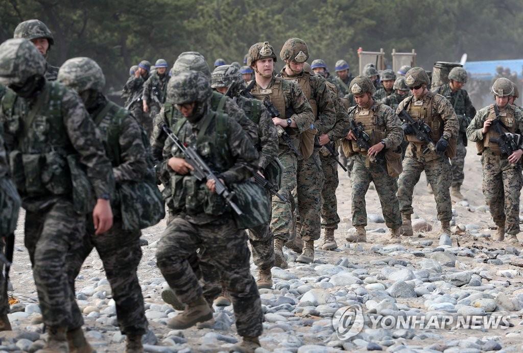 韩美联合登陆演习