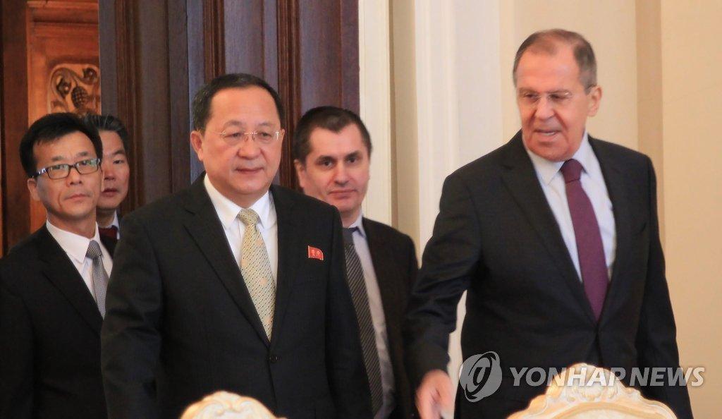 朝俄外长在俄会晤